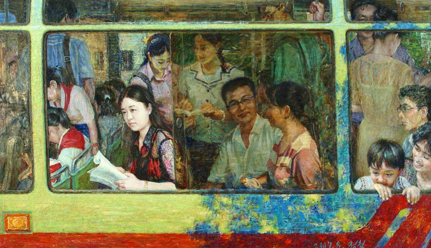 do kim university and mansudae gallery need to be made into national and international museum. the above image is an example of north korean contemporary painting