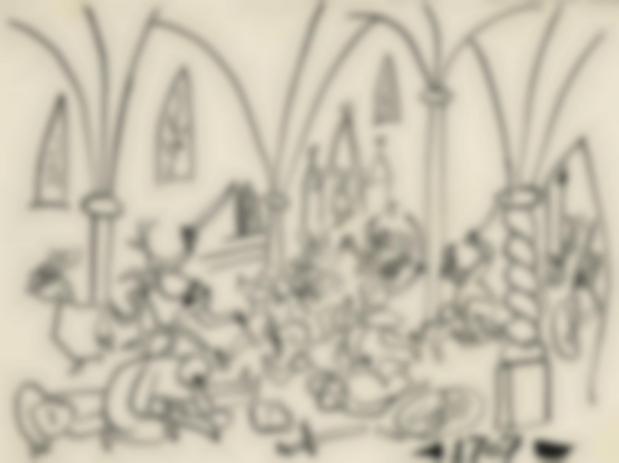 Pablo Picasso-Scene Medievale-1951