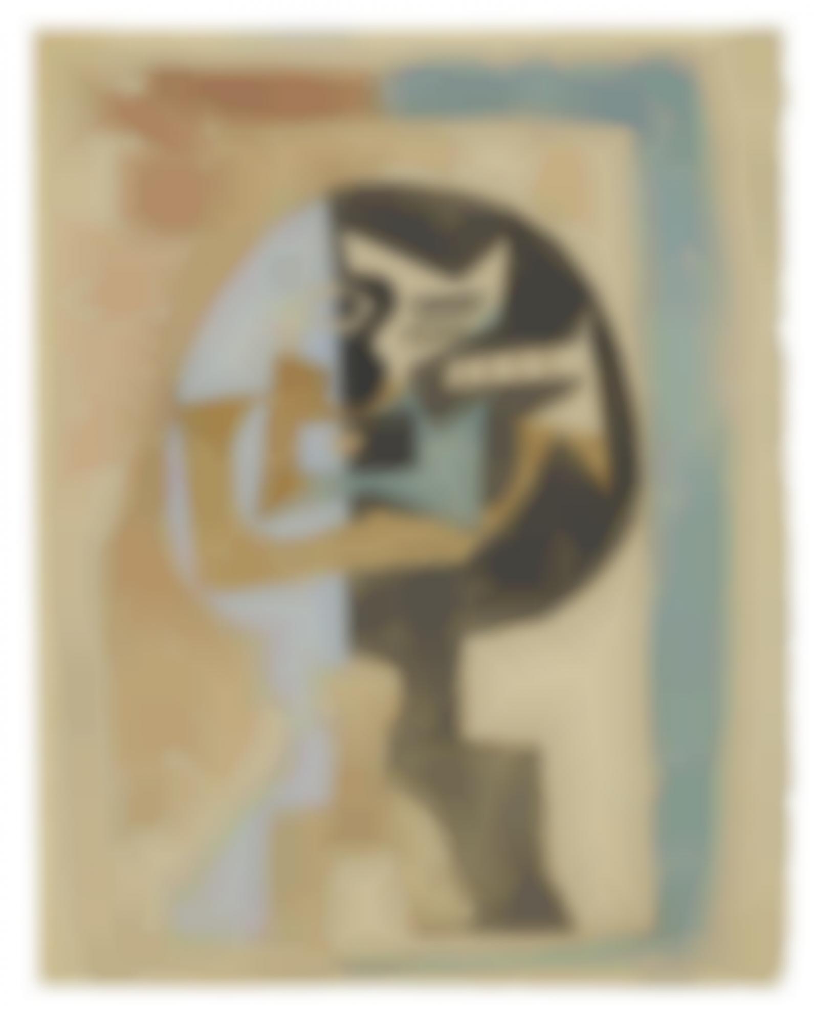 Pablo Picasso-Gueridon Et Guitare-1920