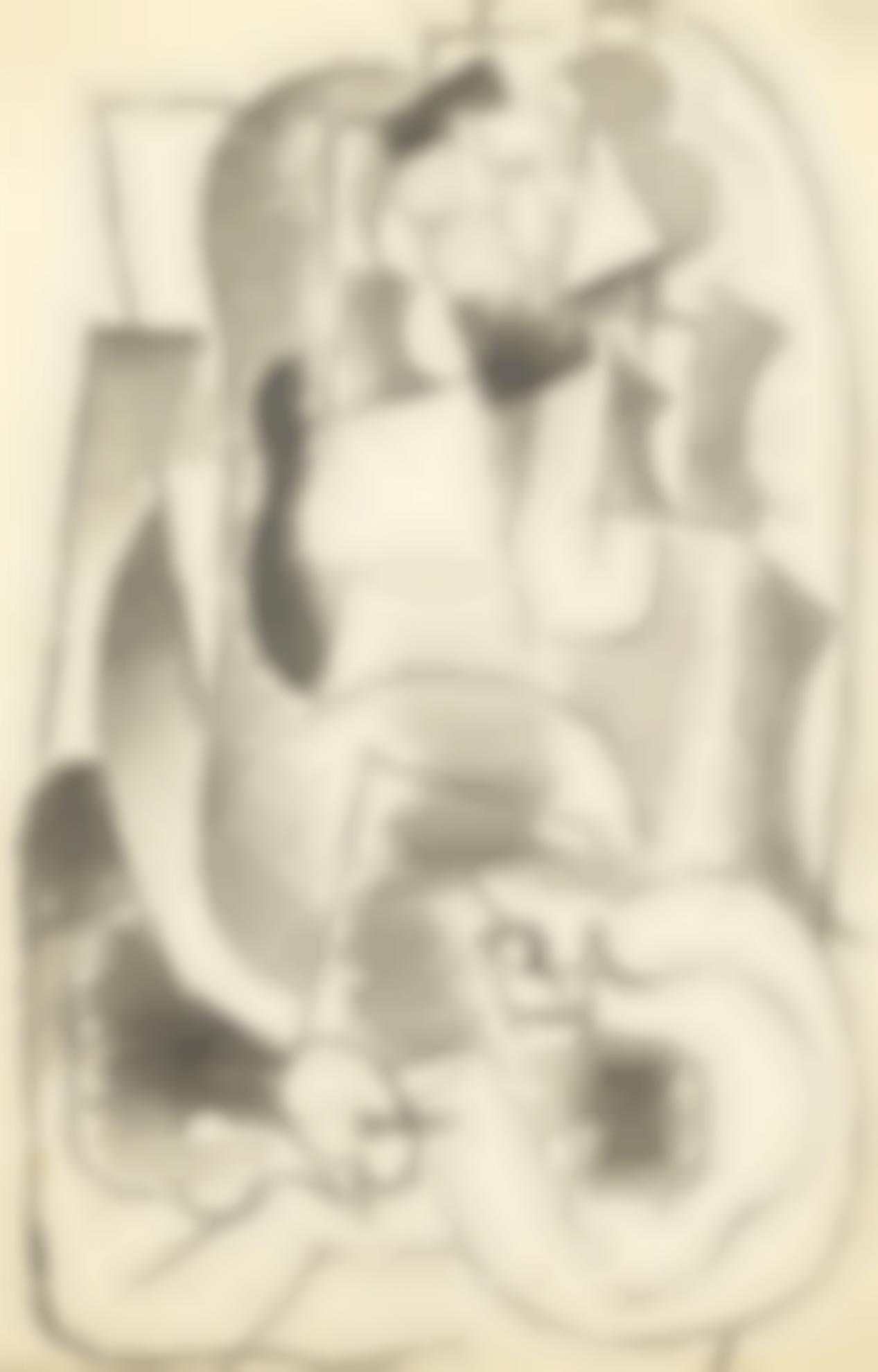 Pablo Picasso-Homme Dans Un Fauteuil-1914
