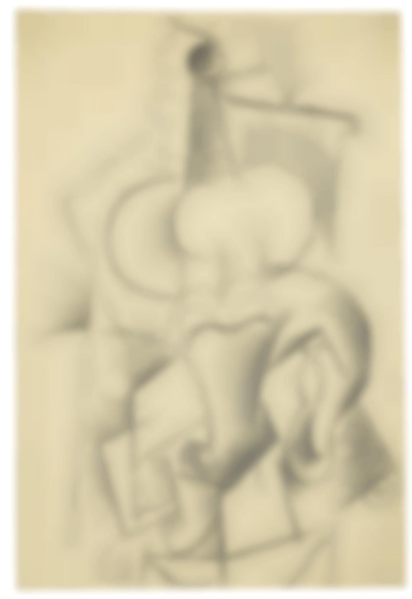 Pablo Picasso-Femme A La Guitare Assise Dans Un Fauteuil-1915