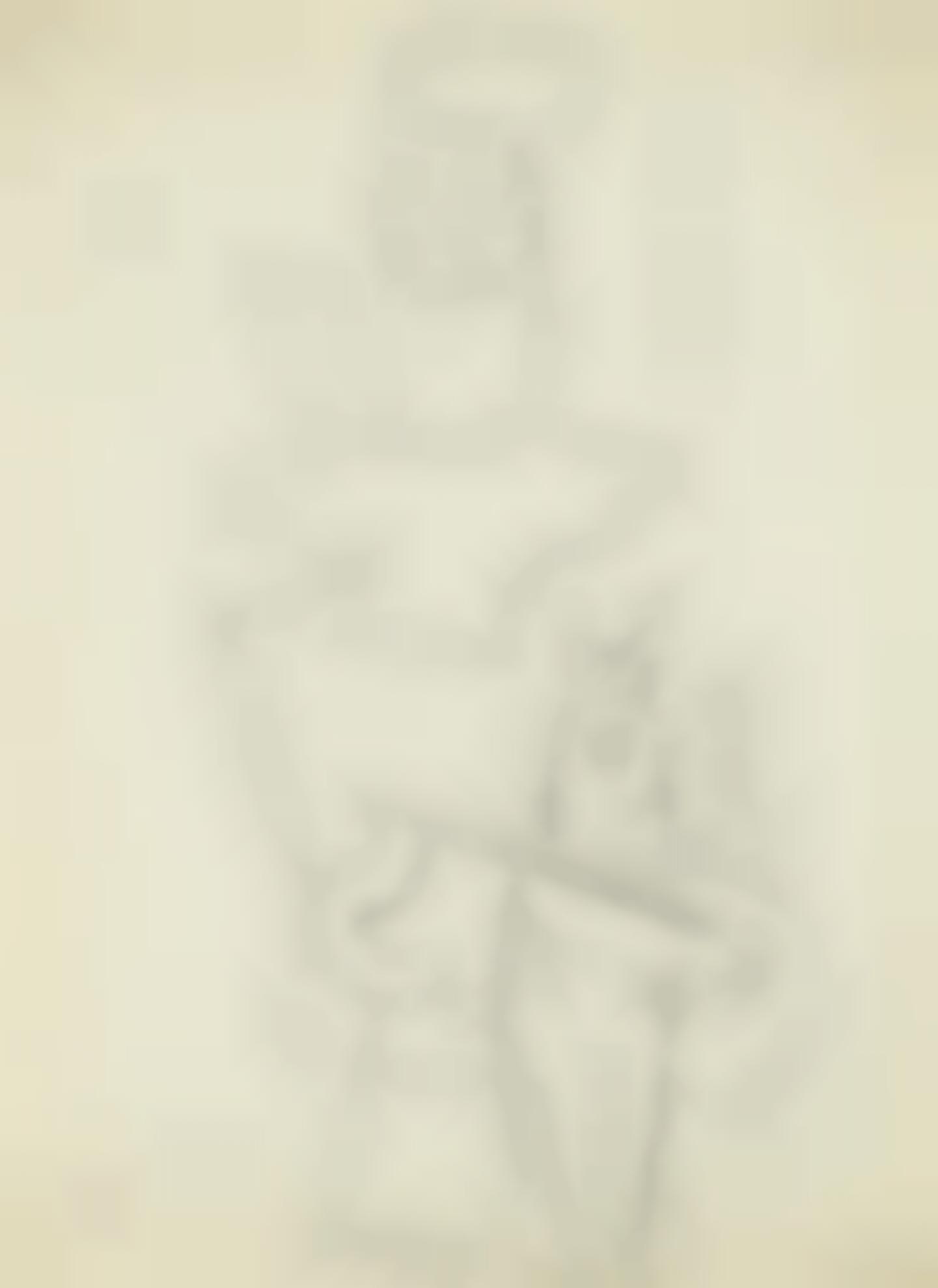 Pablo Picasso-Personnage Assis Et Chien-1914