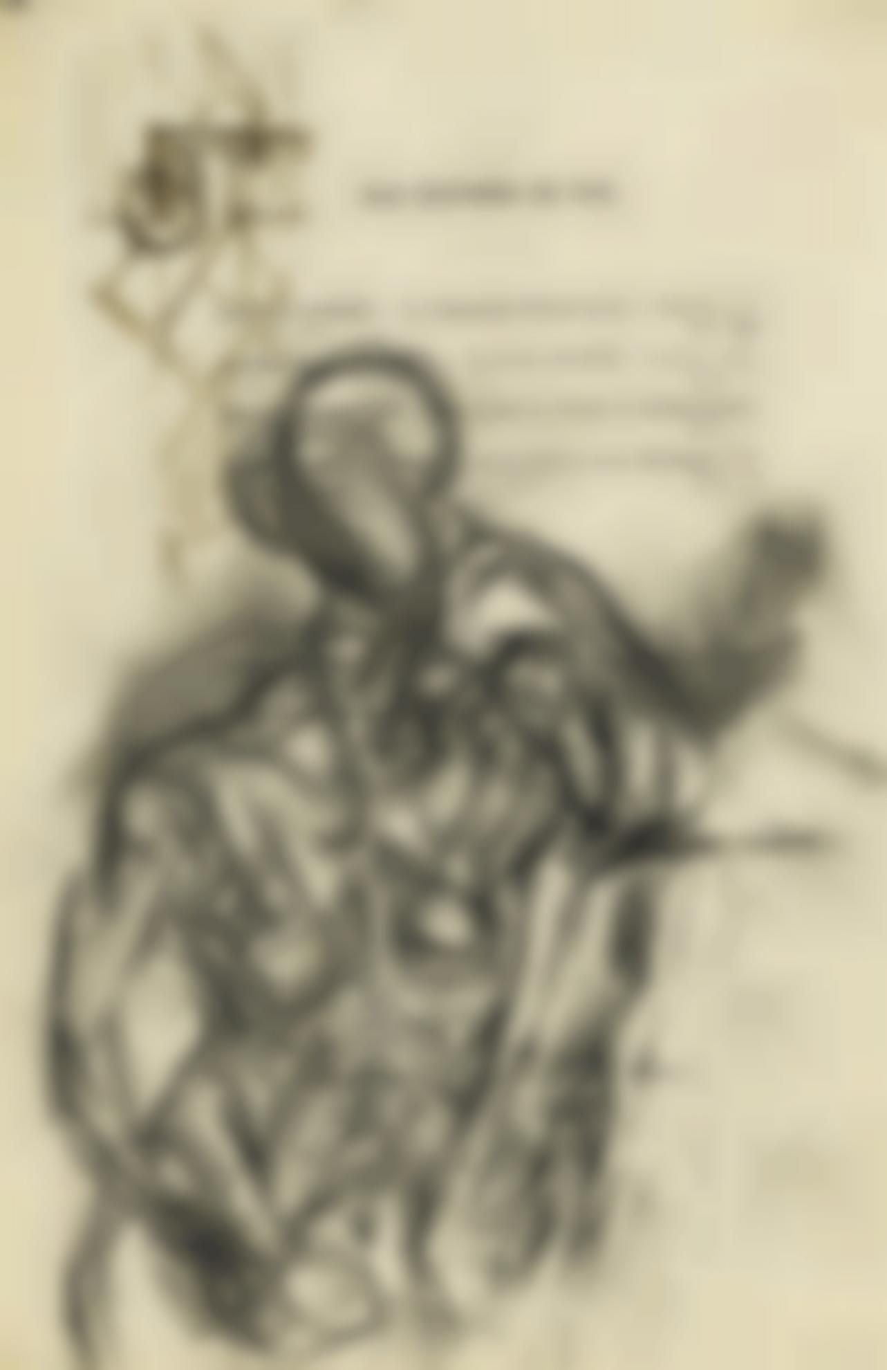 Pablo Picasso-Etude De Femme Accoudee Appuyant Sa Tete Sur Sa Main Gauche-1909