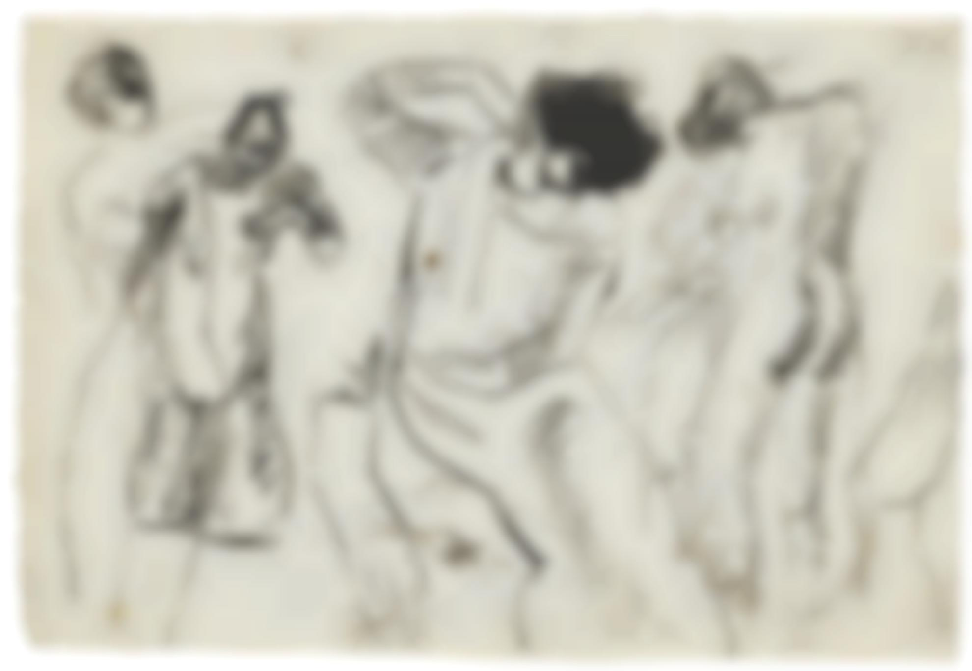 Pablo Picasso-Etudes De Femme (Recto) & Etudes De Femme A La Toilette (Verso): A Double-Sided Work-1903