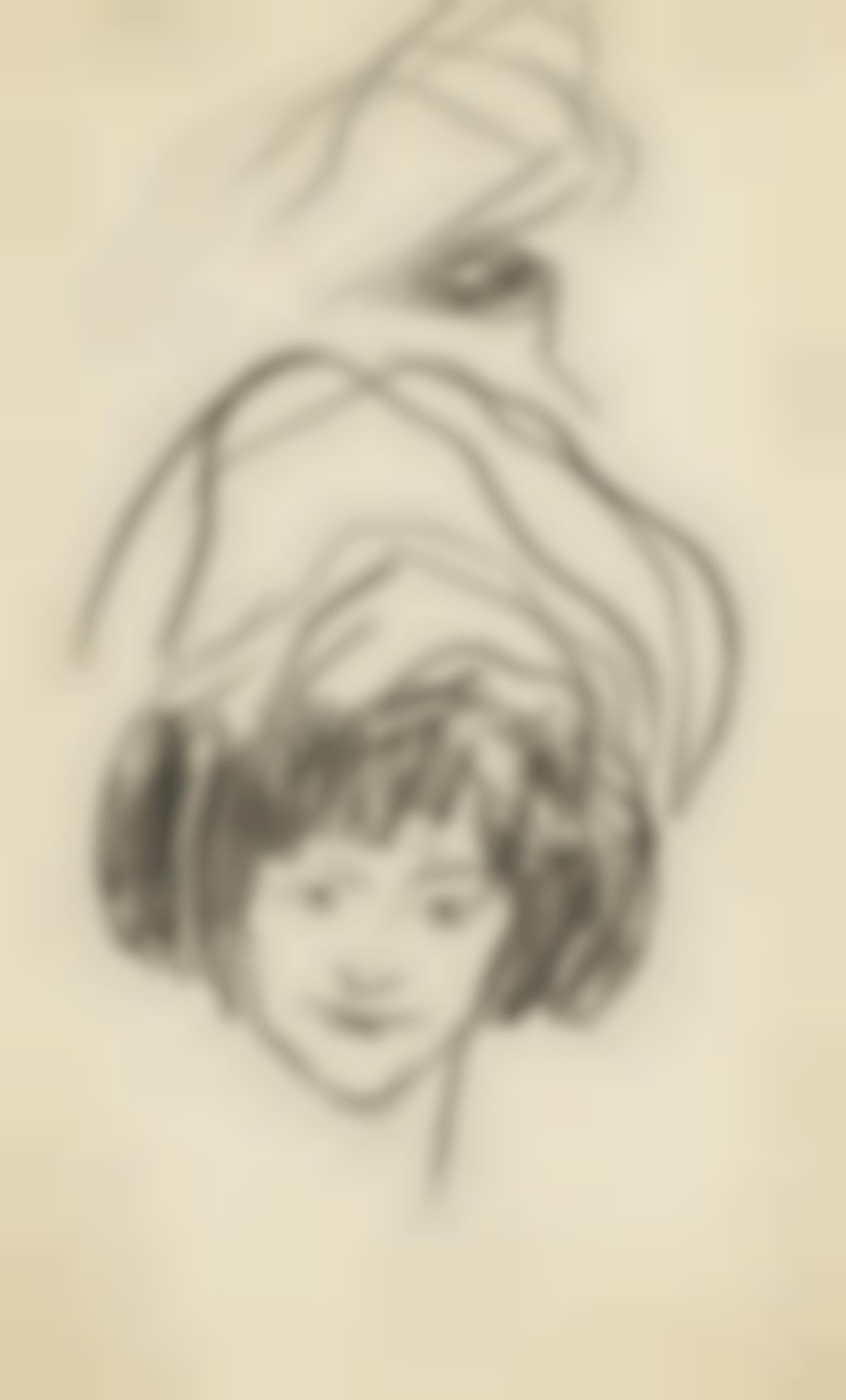 Pablo Picasso-Tete De Femme Au Chapeau-1901