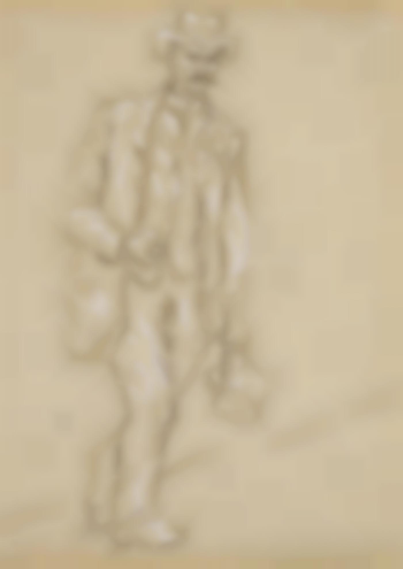 Pablo Picasso-Homme Debout Avec Panier-1920