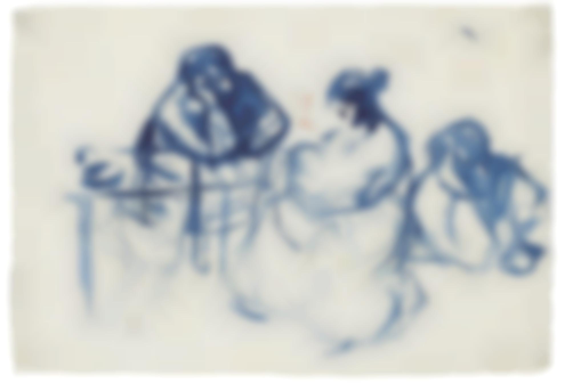 Pablo Picasso-Maternite Et Homme Attable (Recto) & Maternite (Verso): A Double-Sided Work-1899