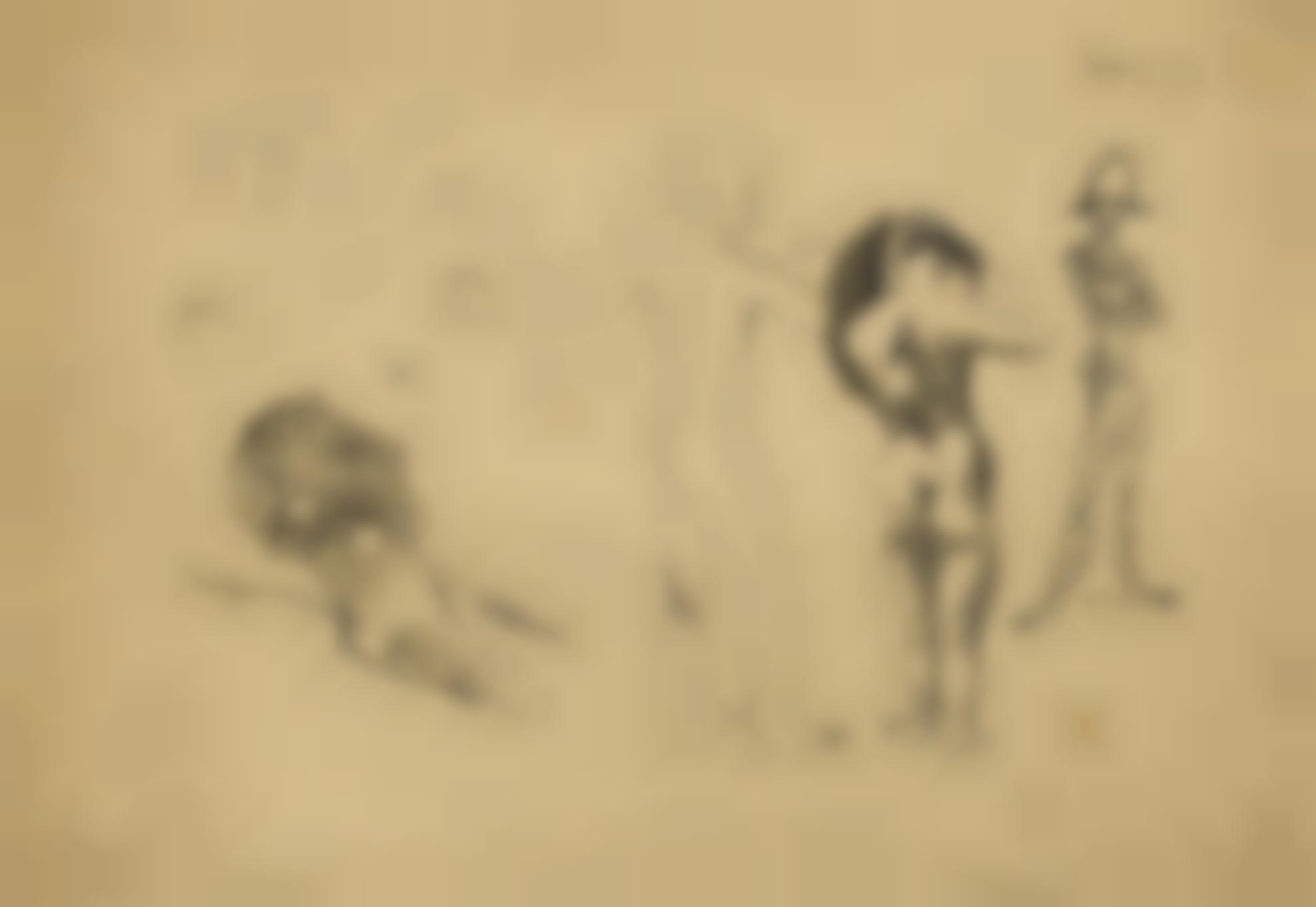 Pablo Picasso-Etude Pour La Mort Darlequin-1906