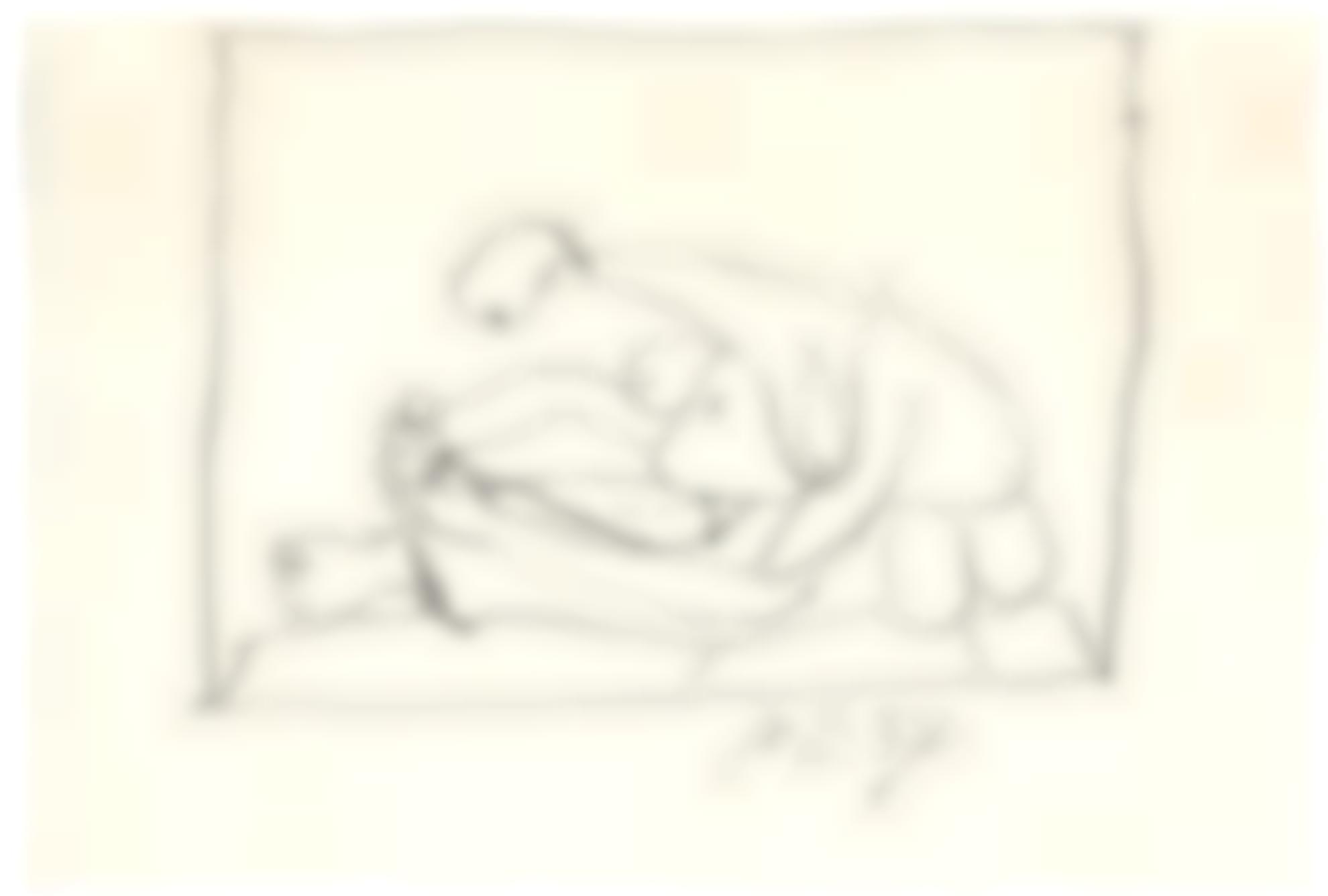Pablo Picasso-Femme Assise Sur La Plage-1937