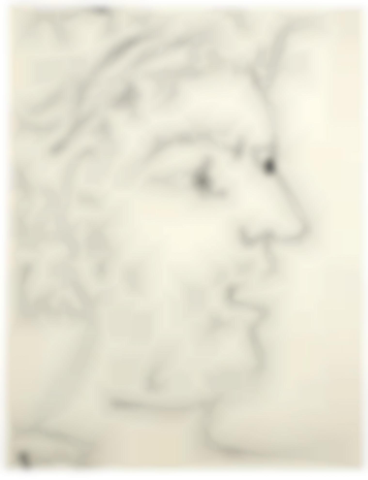 Pablo Picasso-Tete De Guerrier Pacifiste-1951