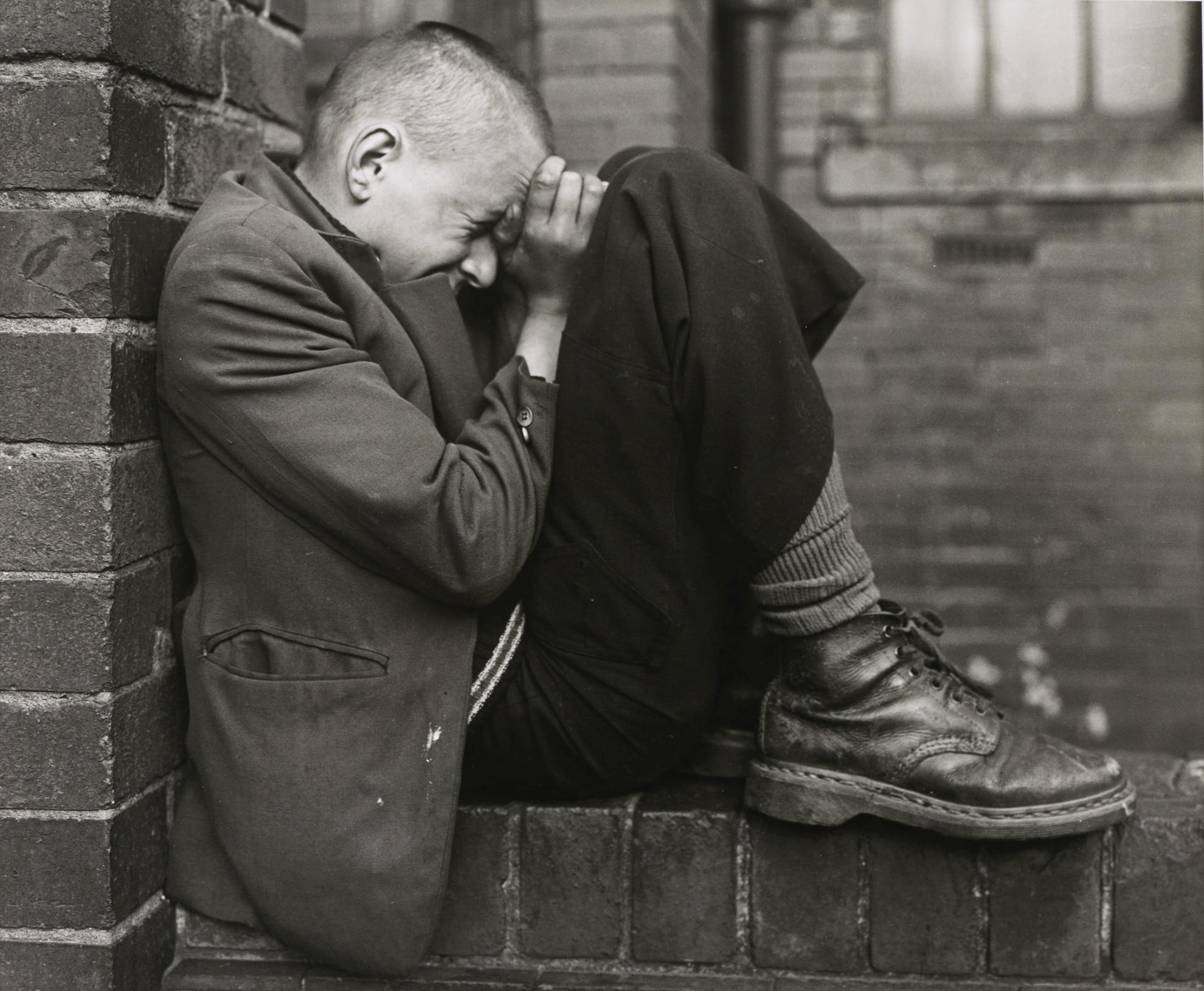 Chris Killip-Youth On A Wall, Jarrow, Tyneside-1976