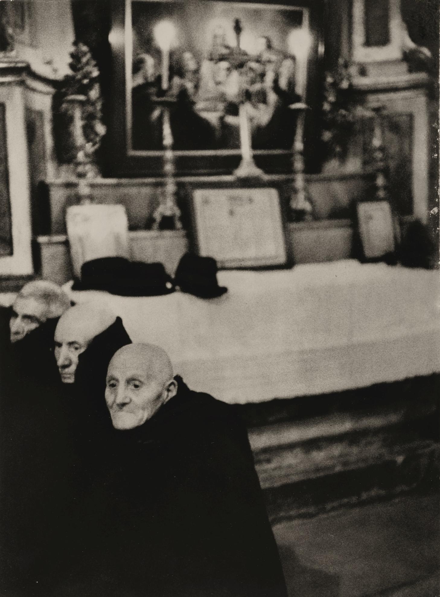 Henri Cartier-Bresson-Midnight Mass, Abruzzo, Italy-1951