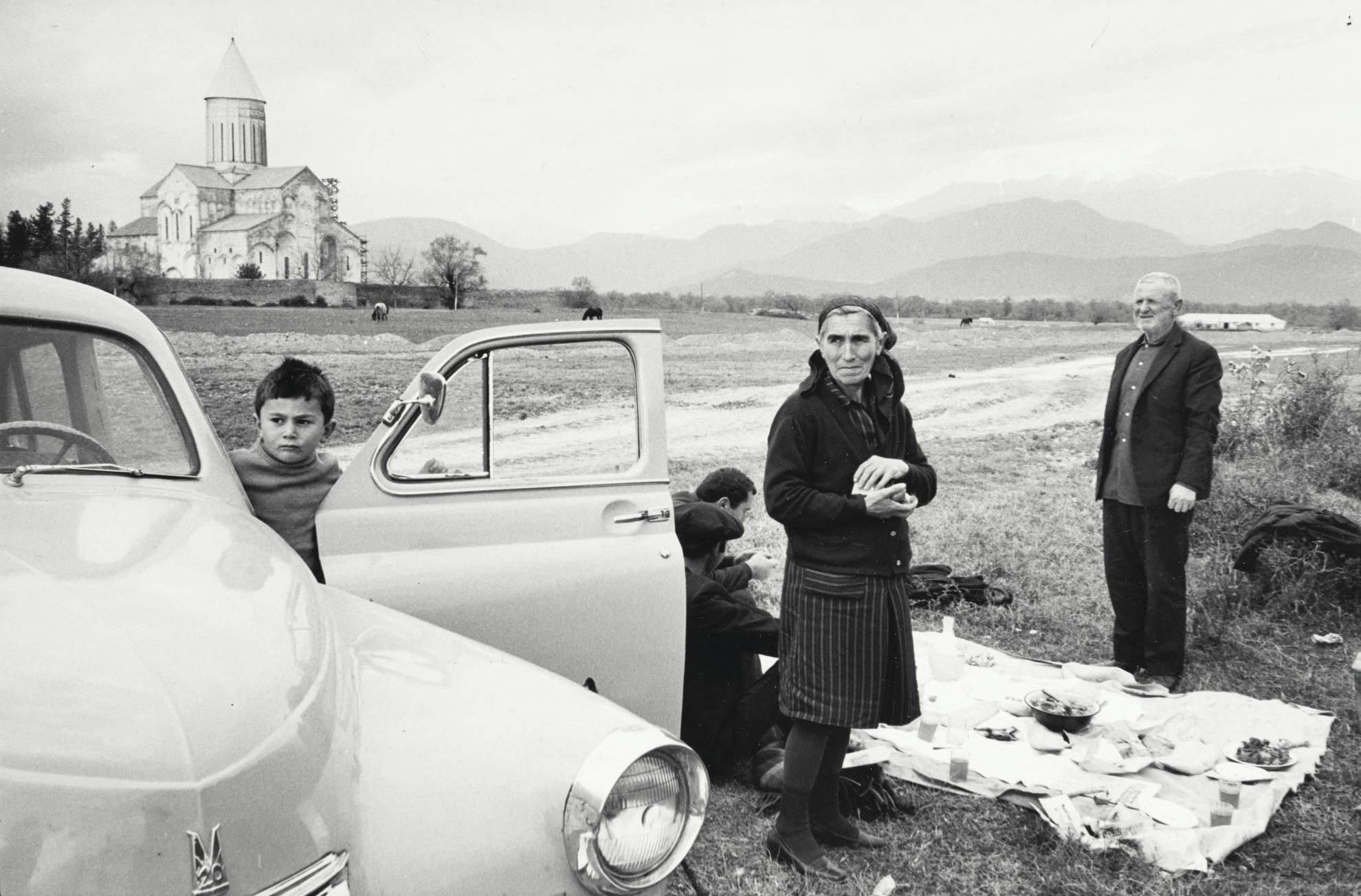 Henri Cartier-Bresson-Kakheti, Telavi, Georgia (Monastery Alavardi). Visitors From The Kolhozes, Celebrating Saint George-1972