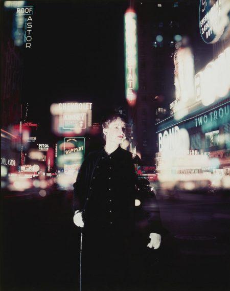 Norman Parkinson-Wenda Parkinson In Times Square, Us Vogue-1949