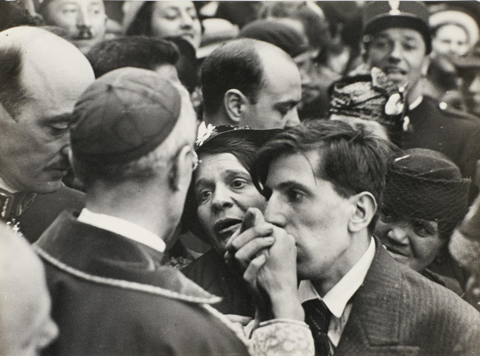 Henri Cartier-Bresson-The Visit Of Cardinal Pacelli, Montmartre, Paris-1938