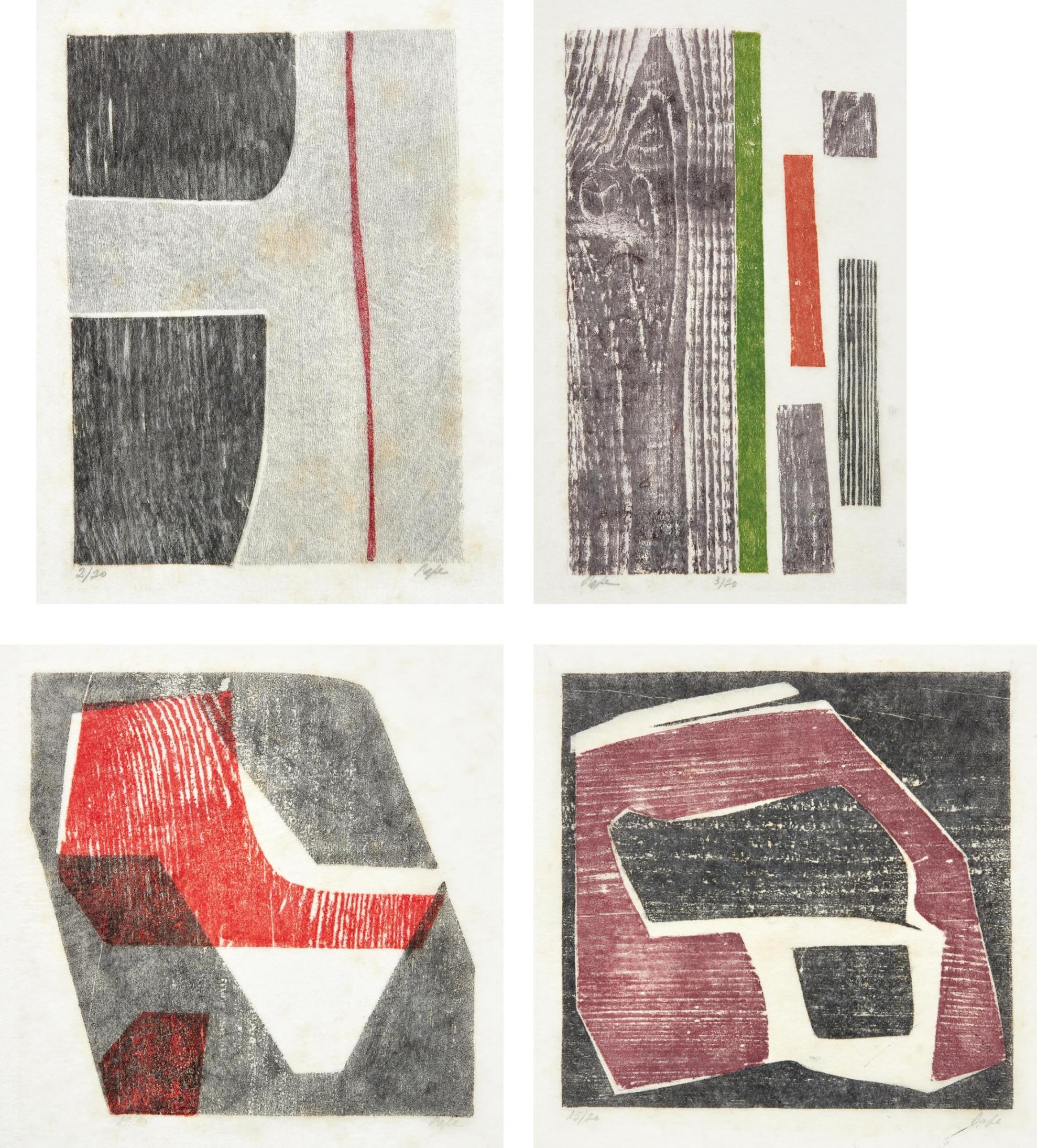Lygia Pape-Four Works: Untitled (Tecelar)-1953