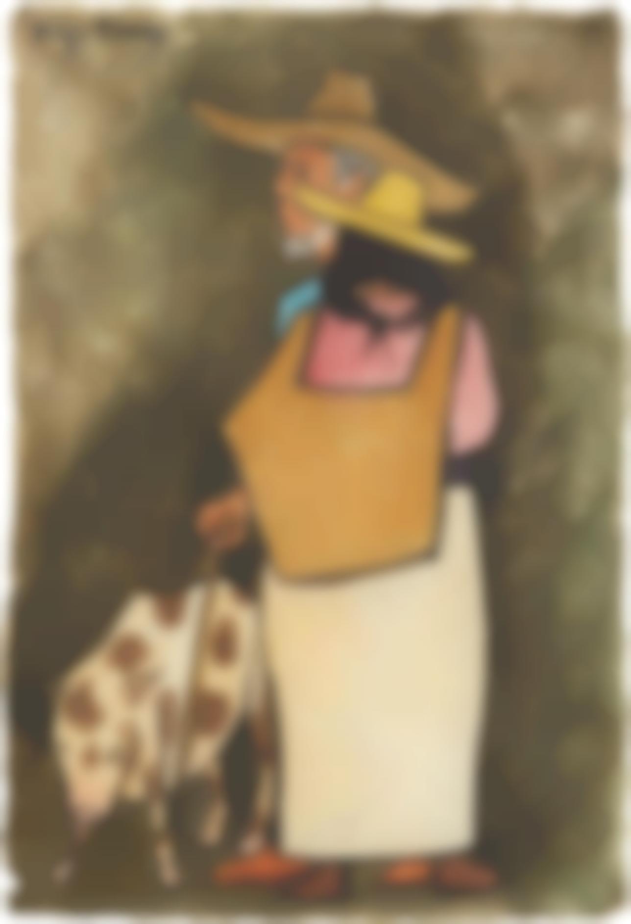 Diego Rivera-Pareja Con Marrano-1944