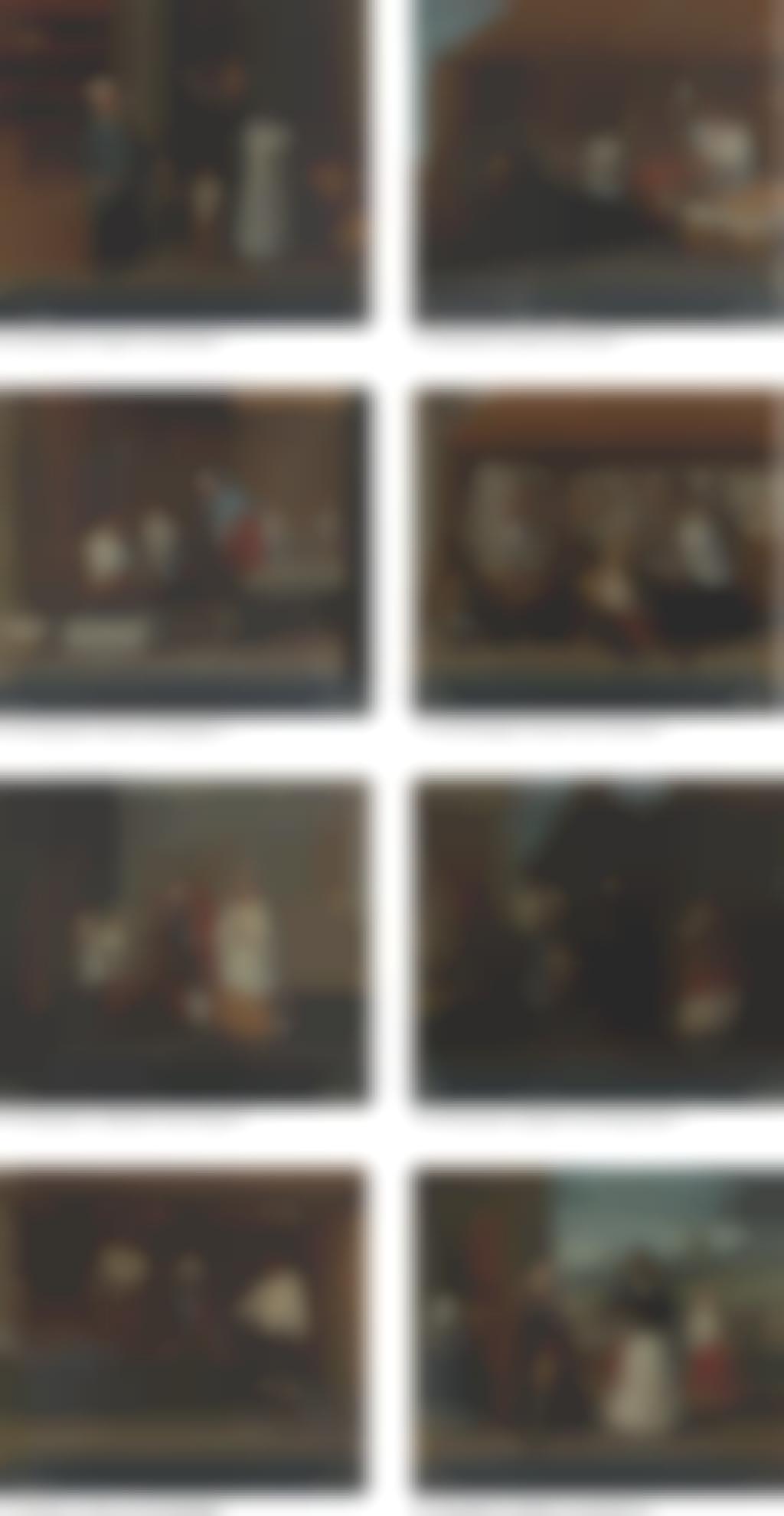 Jose de Alcibar-A Group Of Eight Casta Paintings: (I) De Espanol, Y Negra, Nace Mulata; (II) De Mulato, E India, Nace Chino; (III) De Espanol, E India, Nace Mestiza; (IV) De Sambaygo, E India, Nace Cambujo; (V) De Espanol, Y Mestiza, Nace Castizo; (VI) De Cambujo, Y Mulata, Nace Albarazado; (VII) De Indio, Y Loba, Nace Sambayga; (VIII) De Espanol, Y Mulata, Nace Morisca-1778