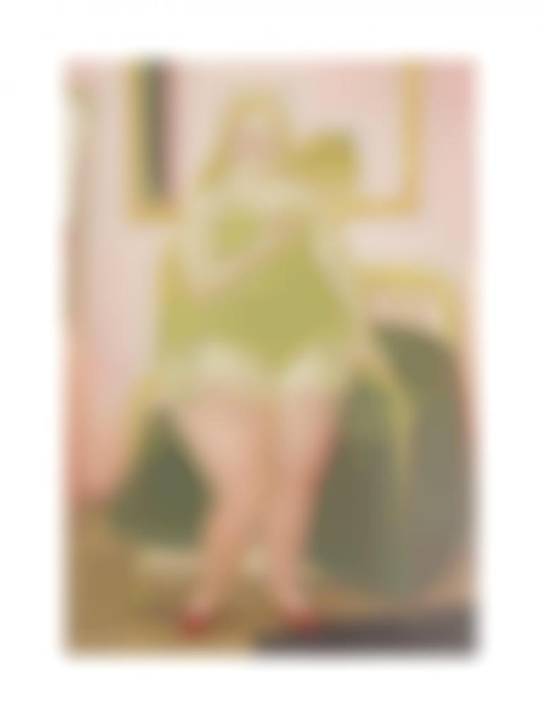 Fernando Botero-The Bedroom-1979