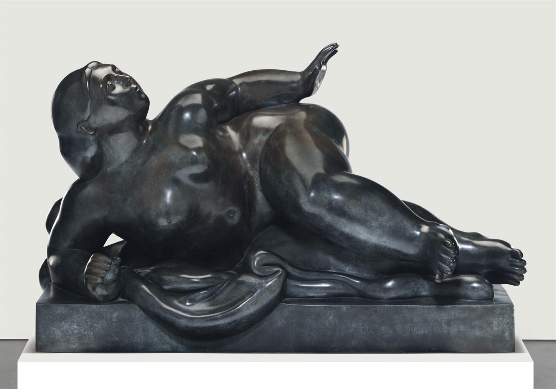 Fernando Botero-Reclining Figure-1985