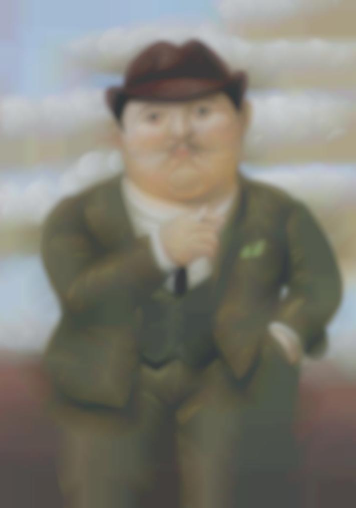 Fernando Botero-Man Smoking-2002