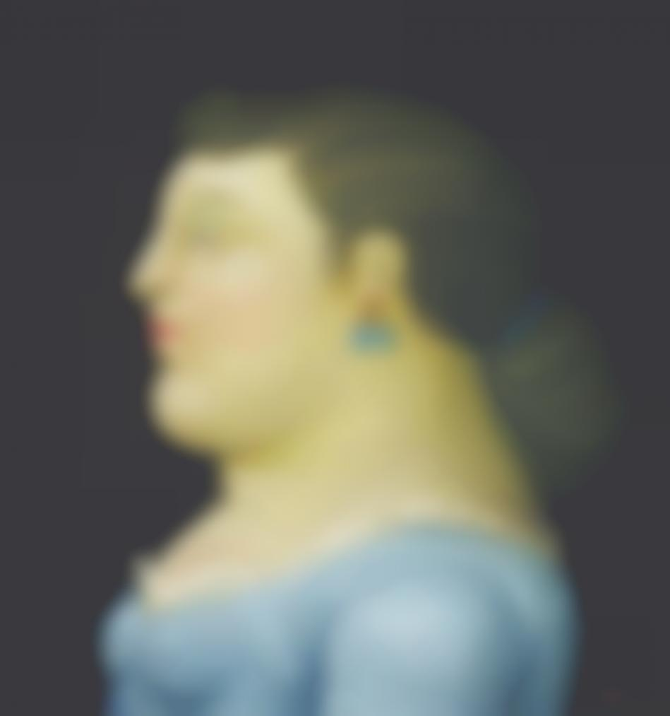 Fernando Botero-Woman In Profile-1995