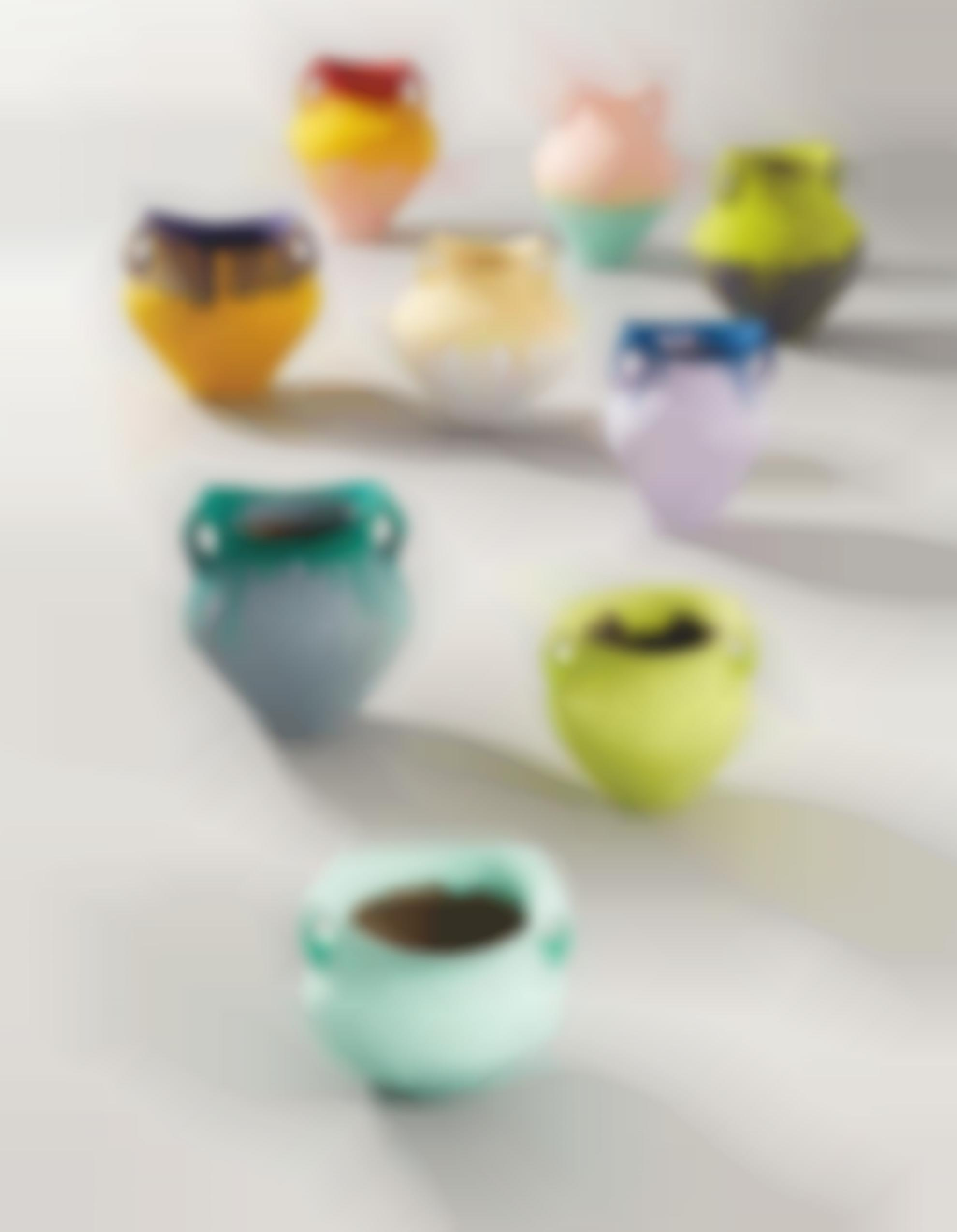 Ai Weiwei-Coloured Vases (In 9 Parts)-2008