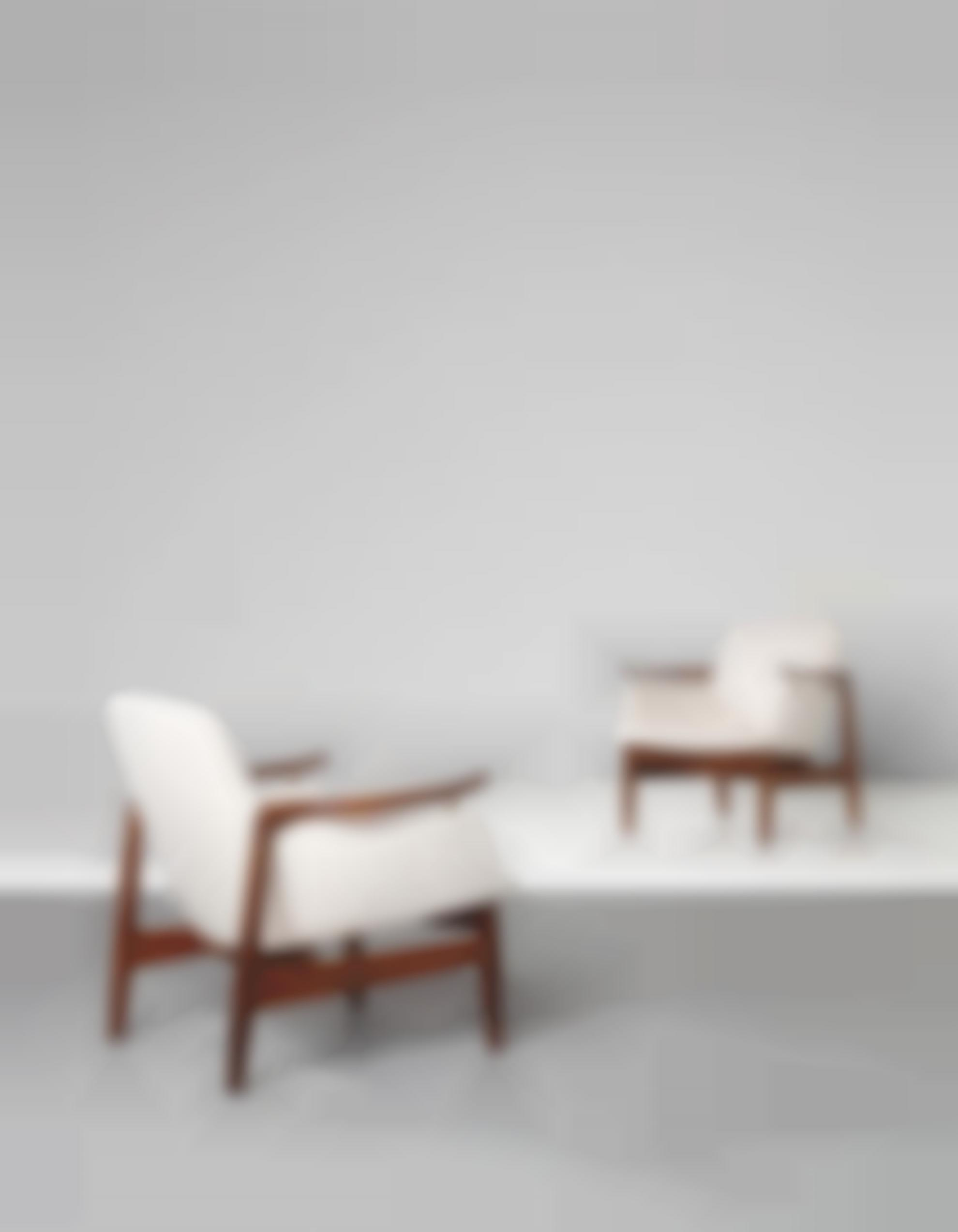 Finn Juhl-Pair Of Rare Armchairs, Model No. Fj 53-1953