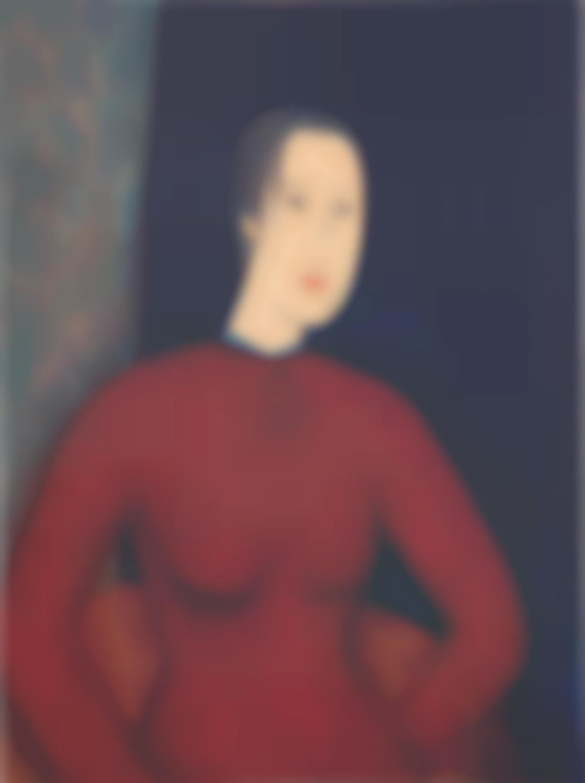 Qiu Yacai-Femme A La Robe Rouge-1994