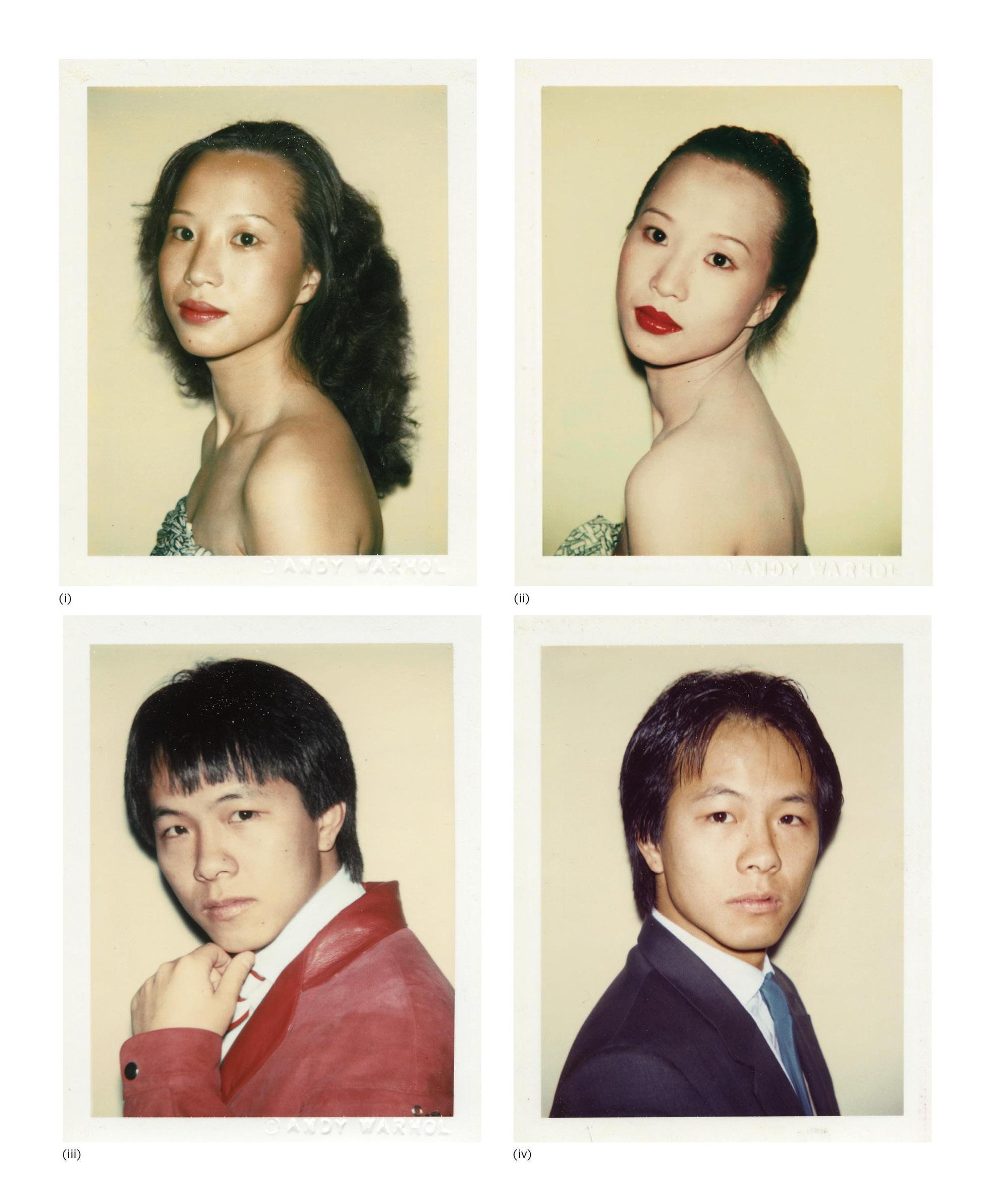 Andy Warhol-Four Works: (I) Julianna Siu; (II) Julianna Siu; (III) Alfred Siu; (IV) Alfred Siu-1982