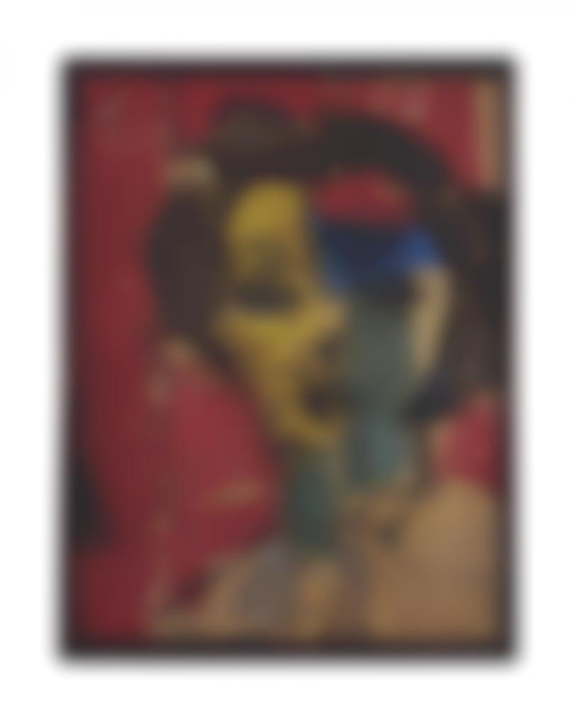 Manolo Valdes-Retrato En Amarillos Y Azules-1999