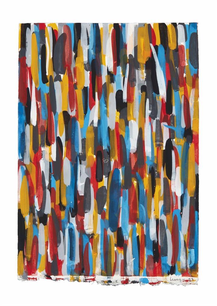 Sol LeWitt-Vertical Brushstrokes-1993