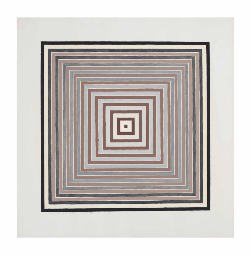 Frank Stella-Study For Attica Poster - Remember-1975