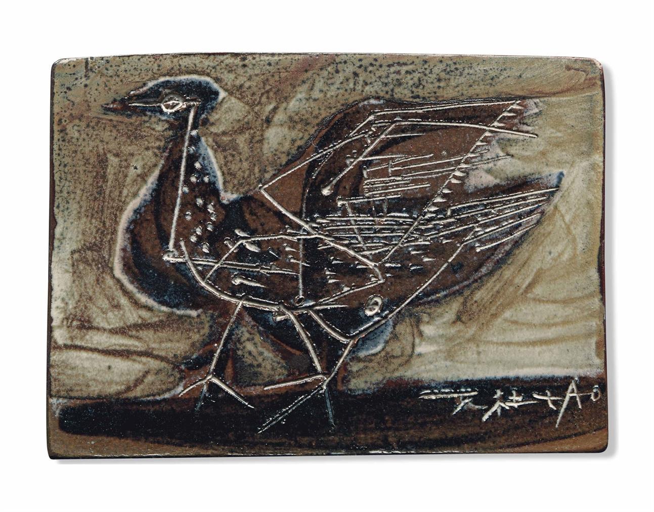 Zao Wou-Ki-Sans Titre (Oiseau)-1954