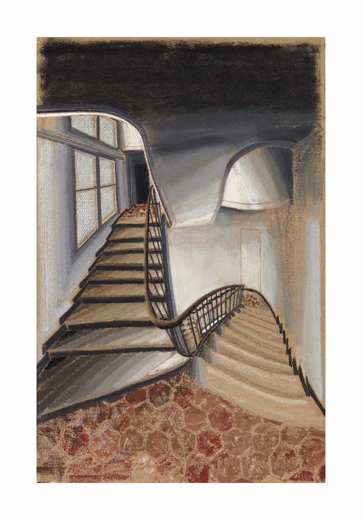 Sam Szafran-Escalier Et Interieur-1995