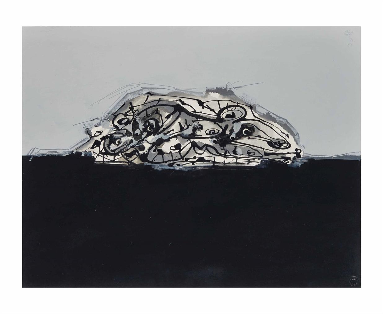 Antonio Saura-Chien De Goya-1980