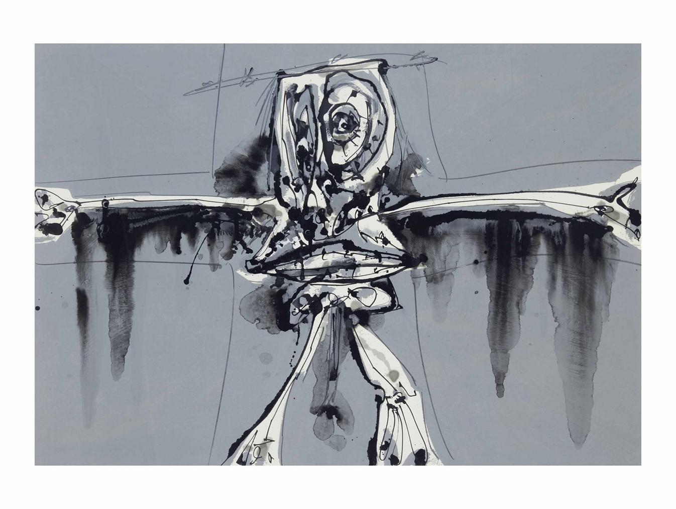Antonio Saura-Crucifixion-1983