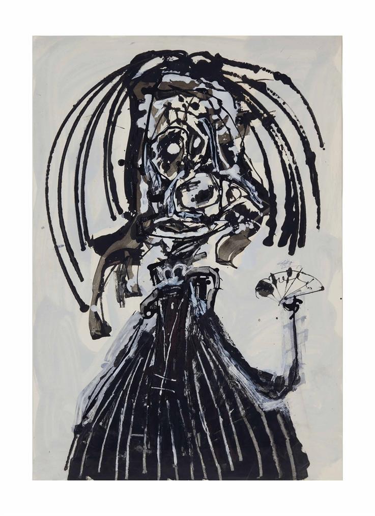 Antonio Saura-Menine-1962