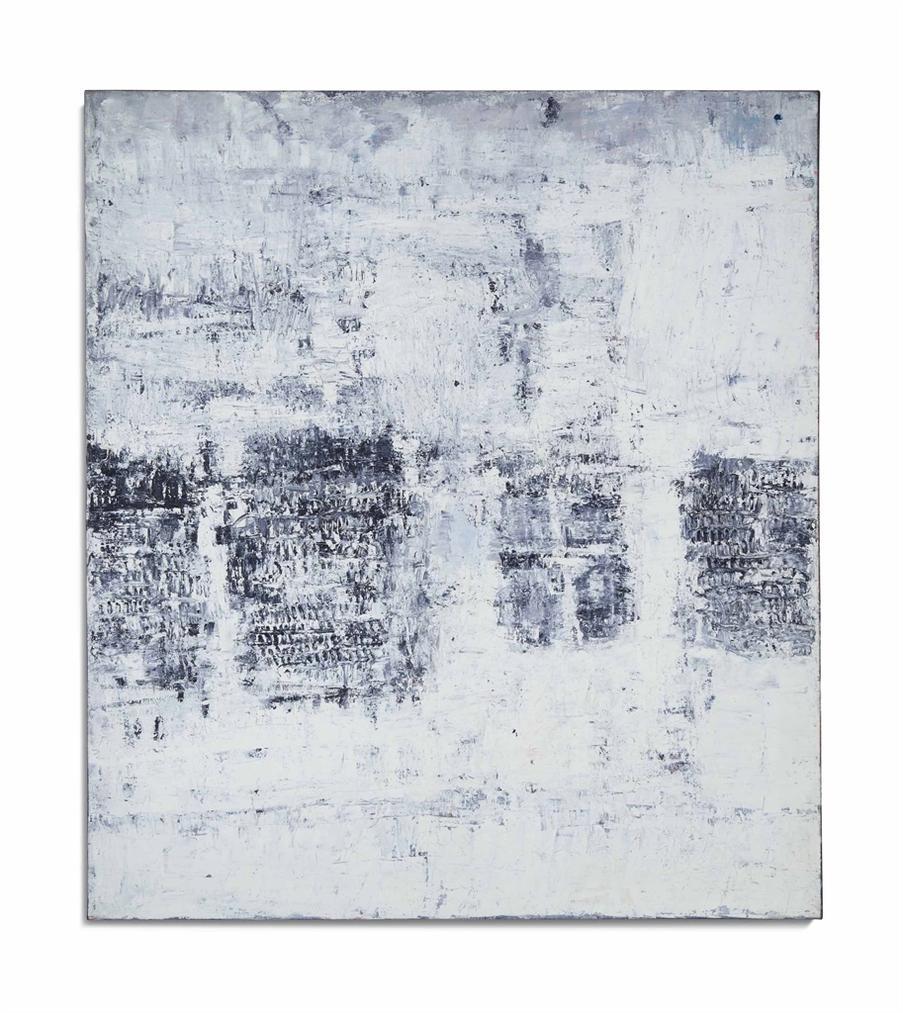 Horia Damian-Composition Avec 4 Formes Grises-1957