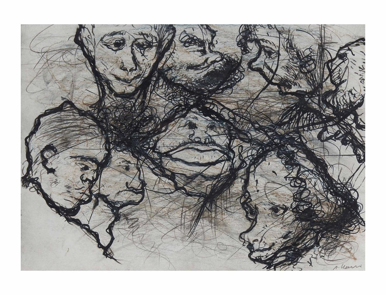Arnulf Rainer-Gesichter Mit Goya No. 16-1983