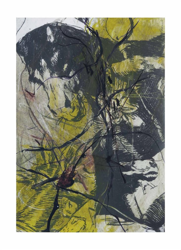 Arnulf Rainer-Gesichter Mit Goya No. 46-1983