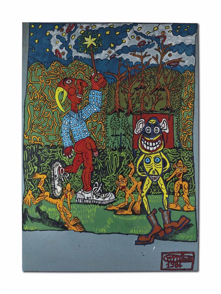 Robert Combas-Sans Titre (Magicien A Tete De Perroquet)-1984