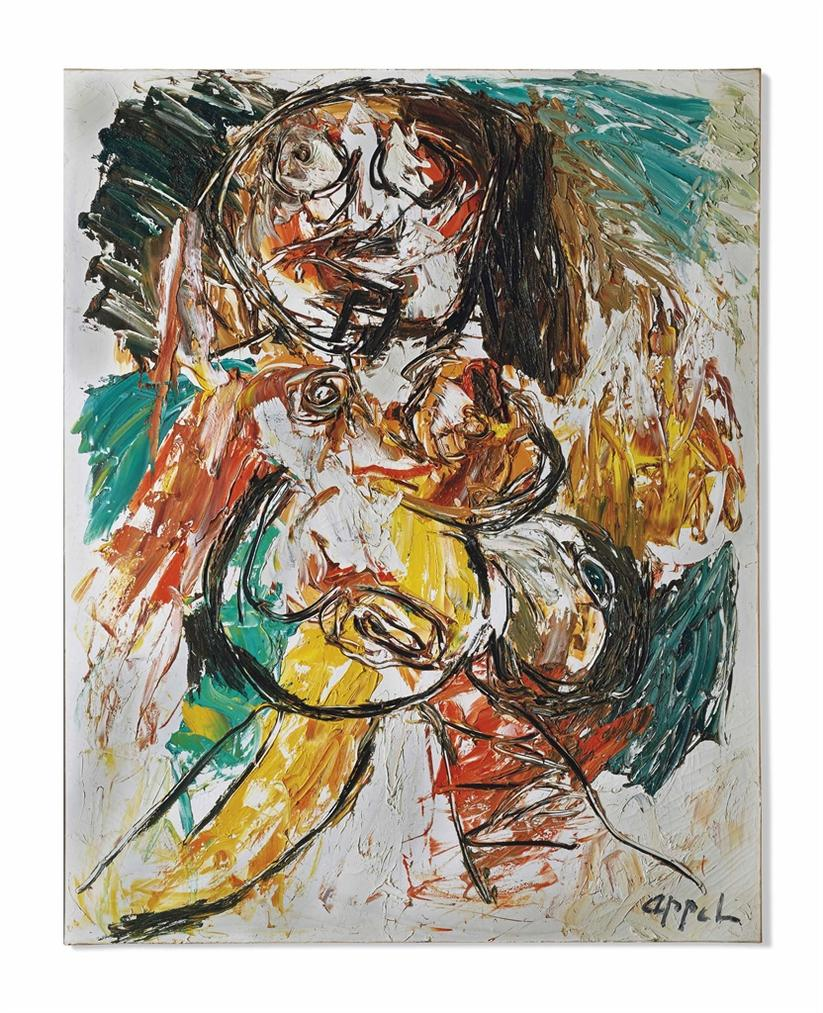 Karel Appel-Nude (Nude Series)-1962