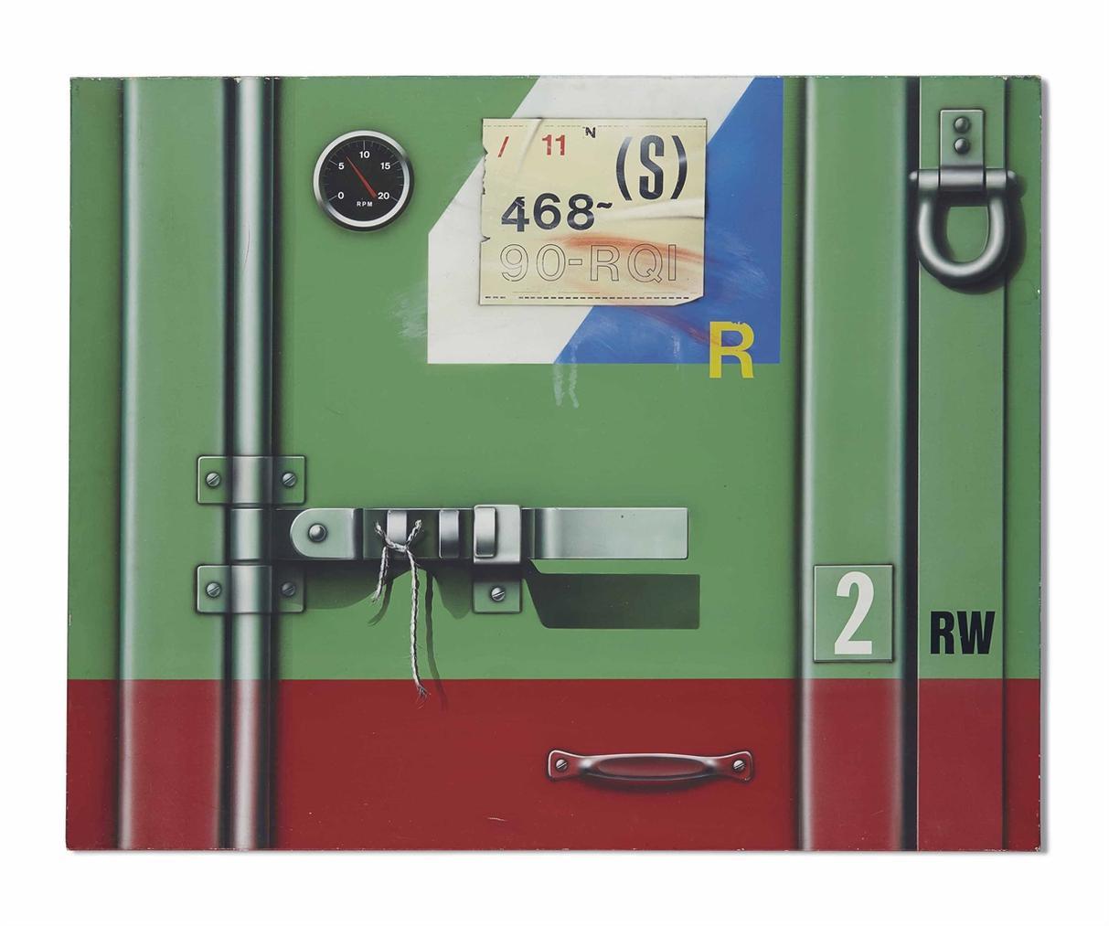 Peter Klasen-Container Rouge/Vert 2 Rw-1979