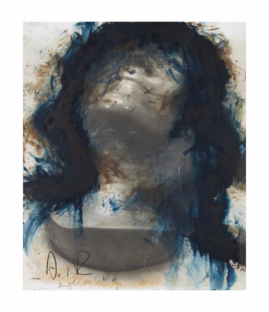 Arnulf Rainer-Totenmasken: 'Unbek A.D. Seine'-1980