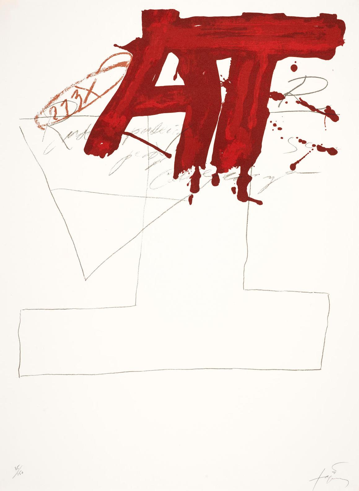 Antoni Tapies-Untitled (G. 278; 630)-1976