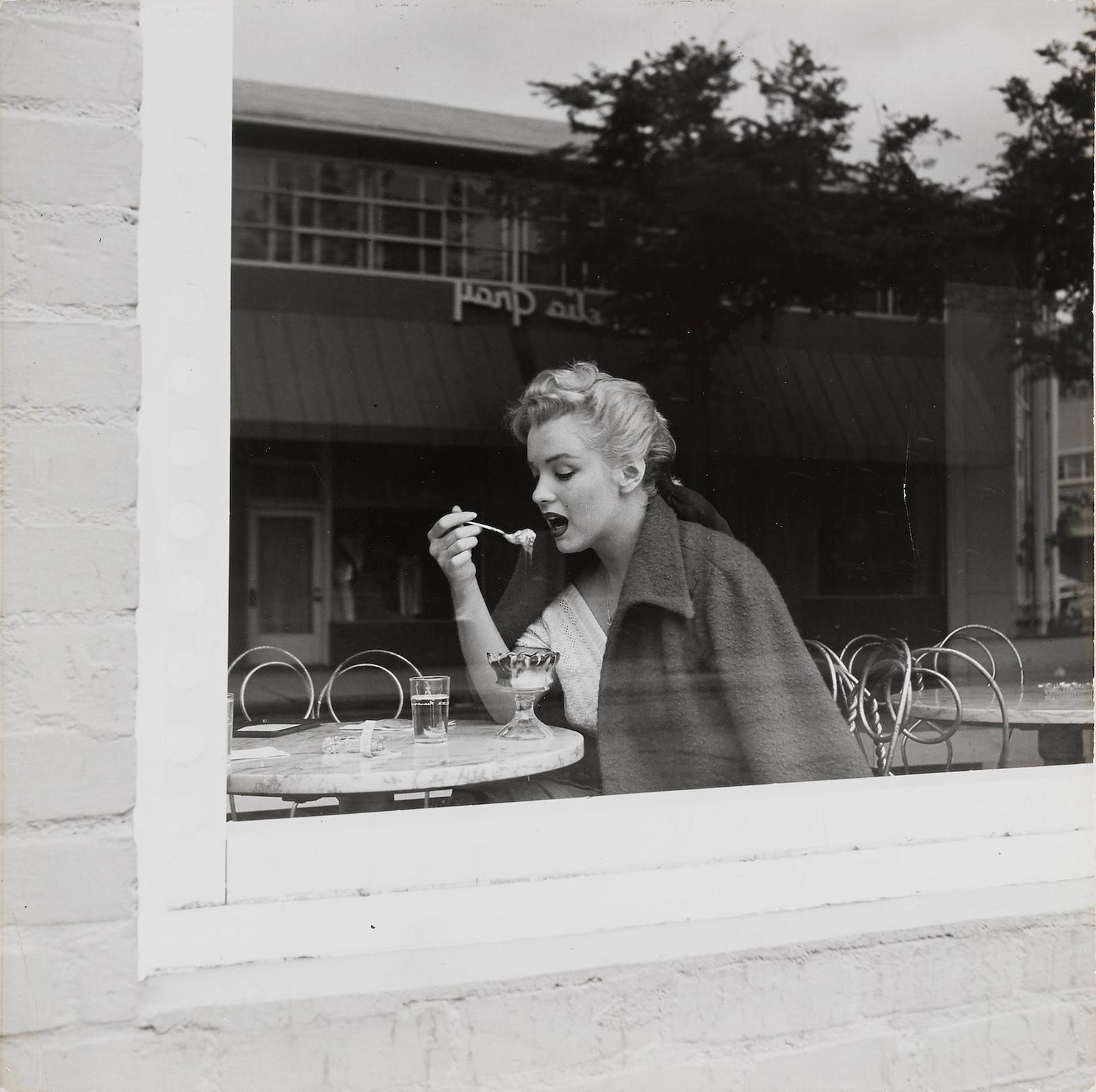 Andre De Dienes-Marilyn Eating An Ice-Cream Sundae-1953