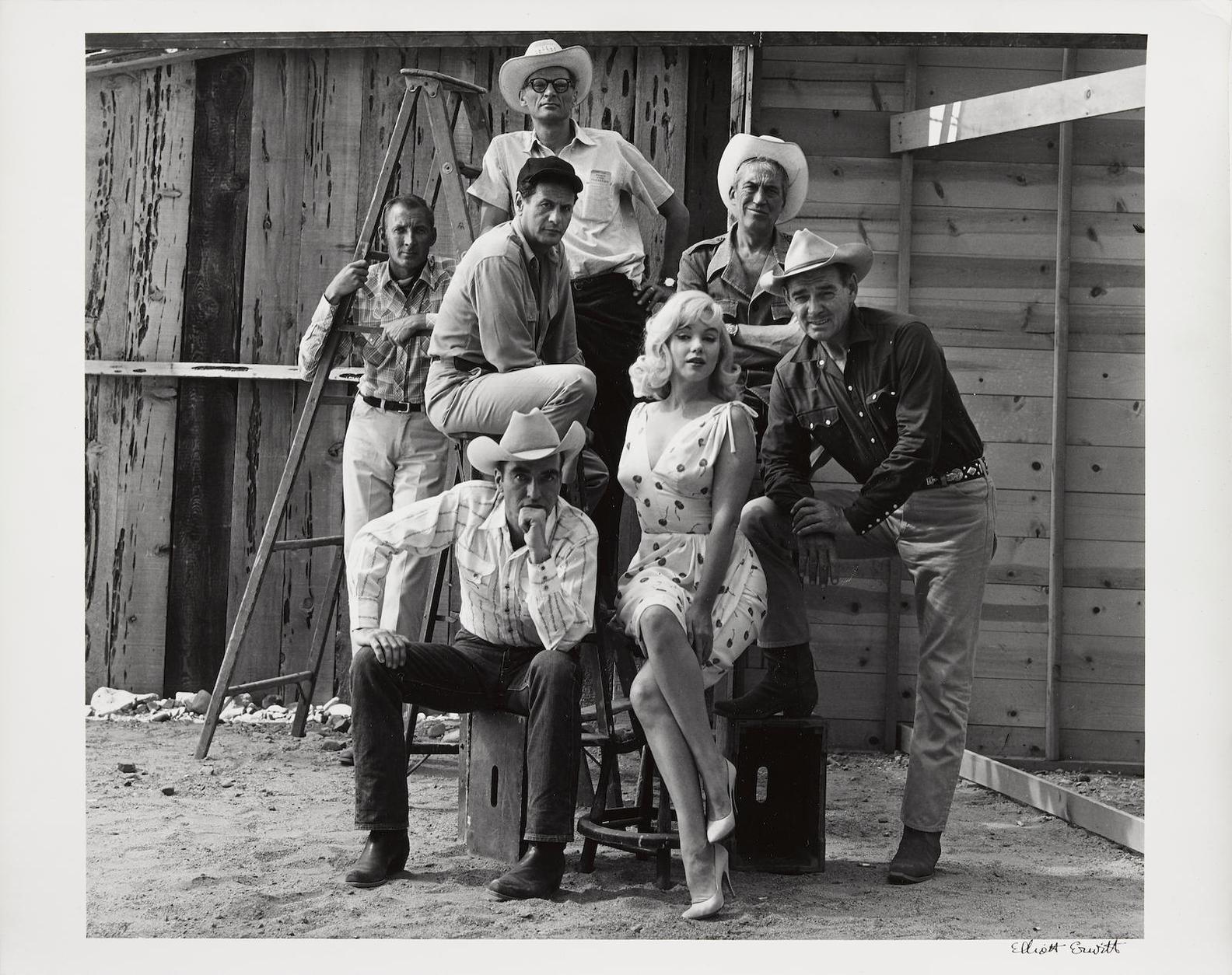 Elliott Erwitt-Reno, Nevada, (Marilyn Monroe And The Cast Of 'The Misfits')-1961