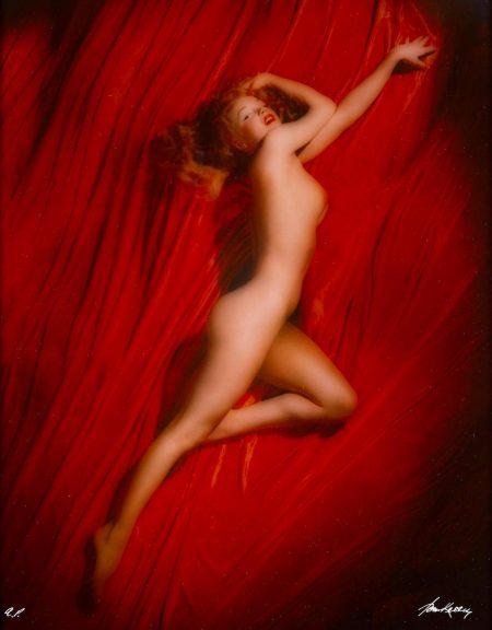 Tom Kelley - Marilyn Monroe, Red Velvet Calender-1949