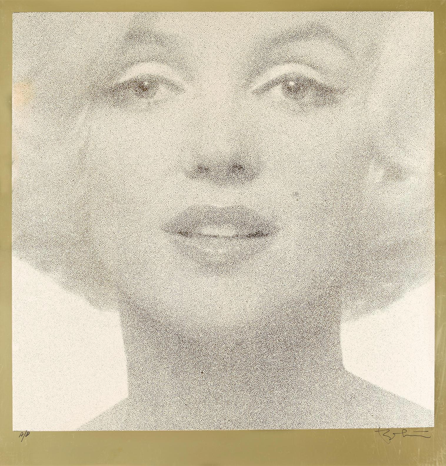 Bert Stern-Head Shot (Creme On Gold)-1962